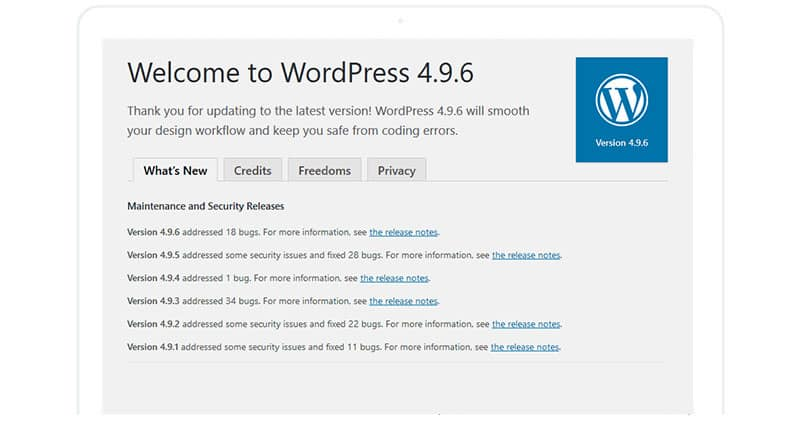 WordPress Privacy Update